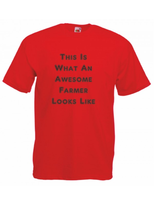 This is what an awesome farmer looks like quot men s funny slogan t shirt